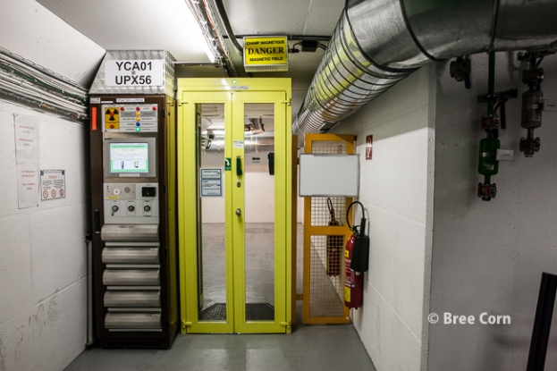 one of the safety doors in the underground of CMS experiment
